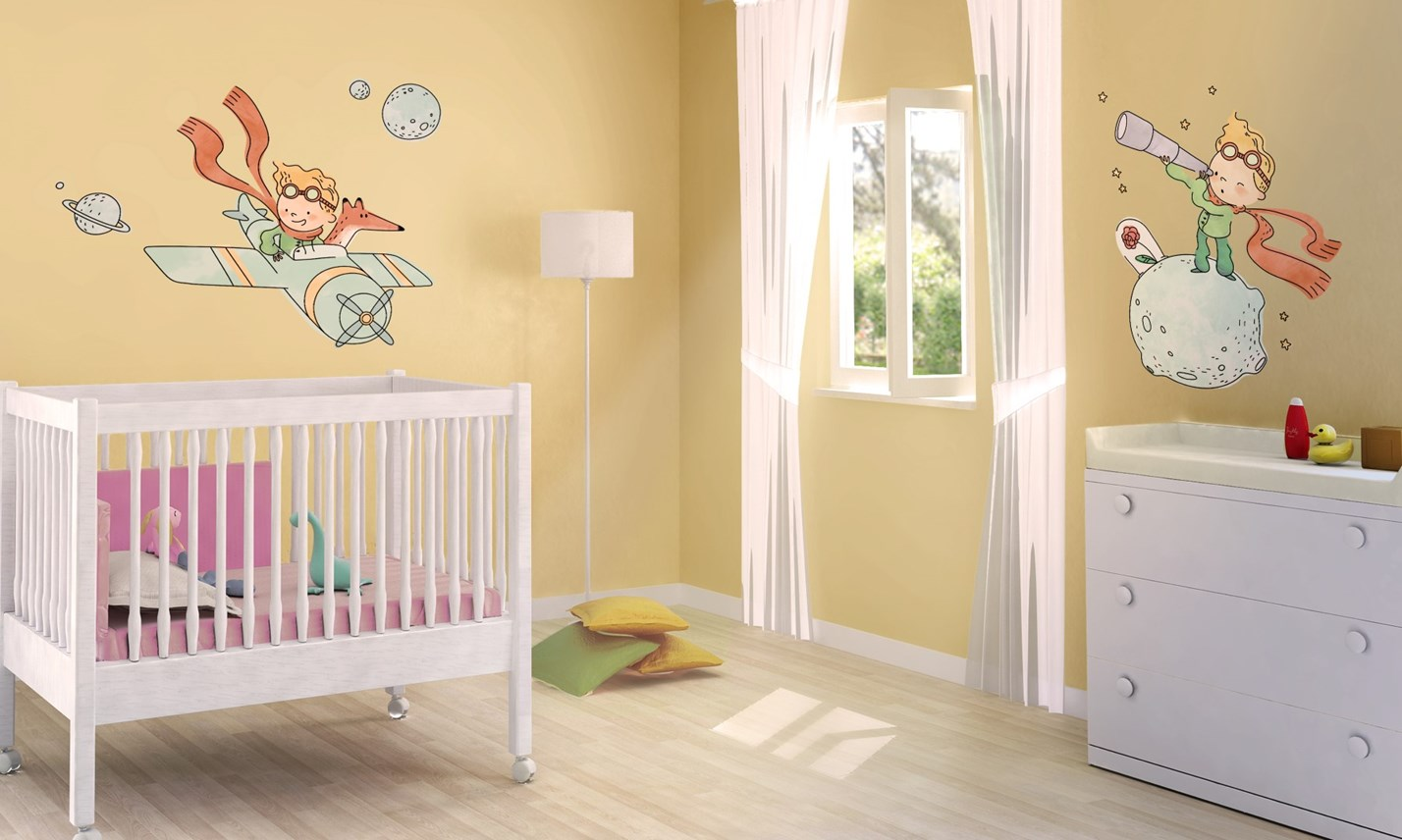 Stickers murali bambini cameretta il piccolo principe leostickers - Adesivi murali per camerette ...